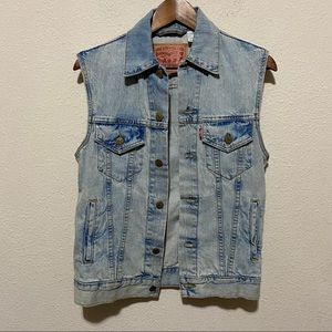 Levi's Light Wash Denim Vest Xsmall